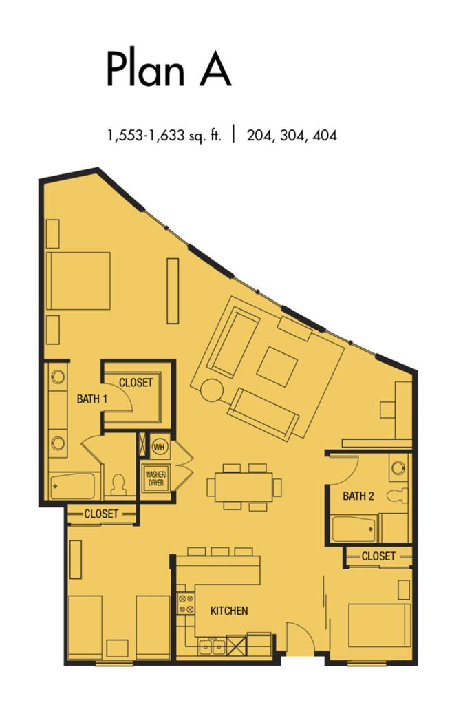 Plan A3 - 1,553 to 1,633 SqFt