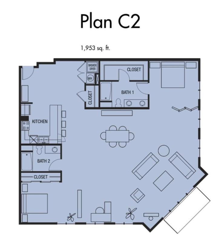 Plan C2 - 1,953 SqFt