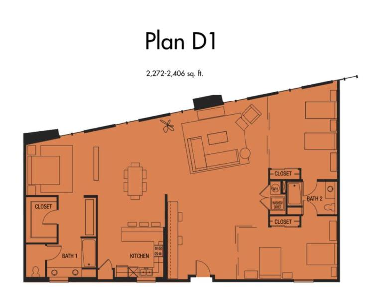 Plan D2 - 2,272 to 2,406 SqFt